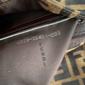 Fendi Bags - FENDI Zucca Pattern Baguette Purse Brown Canvas